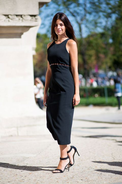 When you're born with style and grace, it really doesn't take much. This French art director let a sexy black dress do all the talking when she stunned in nothing more than a well-fitted tank dress and single-strap sandals.