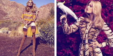 Opt for bold hues and statement prints when temperatures rise.