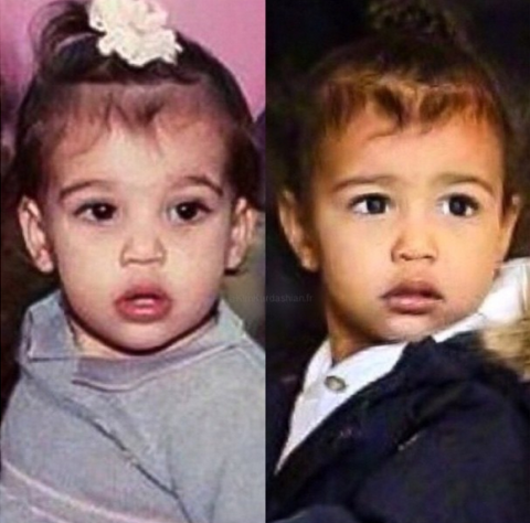 "It's all in those Kardashian genes. Kim posted <a href=""https://instagram.com/p/zSikycuS8-/?modal=true"">this side-by-side image</a> of her baby picture (on the left) and North West (on the right), and we can pretty much predict that North is going to grow up to be gorgeous."