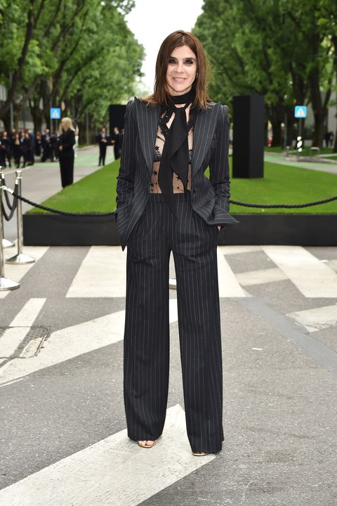MILAN, ITALY - APRIL 30:  Carine Roitfeld attends the Giorgio Armani 40th Anniversary  Silos Opening And Cocktail Reception on April 30, 2015 in Milan, Italy.  (Photo by Jacopo Raule/Getty Images  for Giorgio Armani)