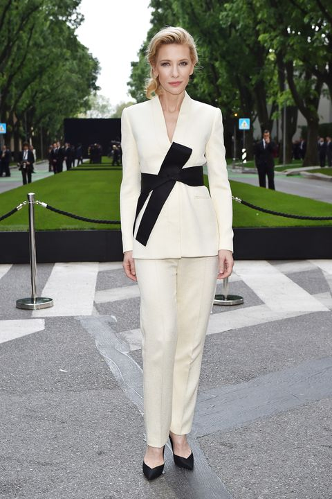 MILAN, ITALY - APRIL 30:  Cate Blanchett attends the Giorgio Armani 40th Anniversary  Silos Opening And Cocktail Reception on April 30, 2015 in Milan, Italy.  (Photo by Jacopo Raule/Getty Images  for Giorgio Armani)
