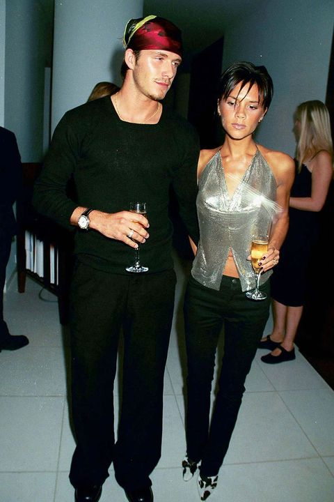 LONDON - September 20:  Footballer David Beckham and Singer Victoria Beckham attend the launch of Jade Jagger's jewelery range on September 20, 1999 in Lodnon.  (Photo by Dave Benett/Getty Images) *** Local Caption *** David Beckham;Victoria Beckham
