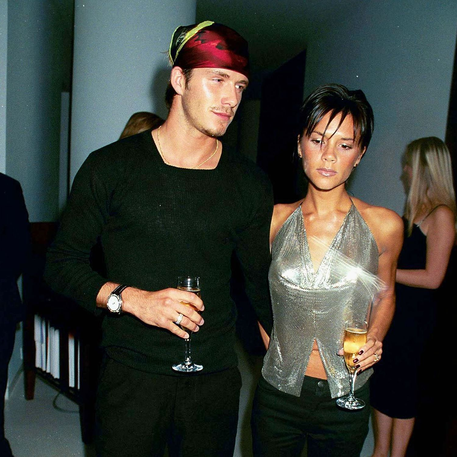 LONDON - September 20:  Footballer David Beckham and Singer Victoria Beckham attend the launch of Jade Jagger's jewelery range on September 20, 1999 in Lodnon.  (Photo by Dave Benett/Getty Images) *** Local Caption *** David Beckham&#x3B;Victoria Beckham