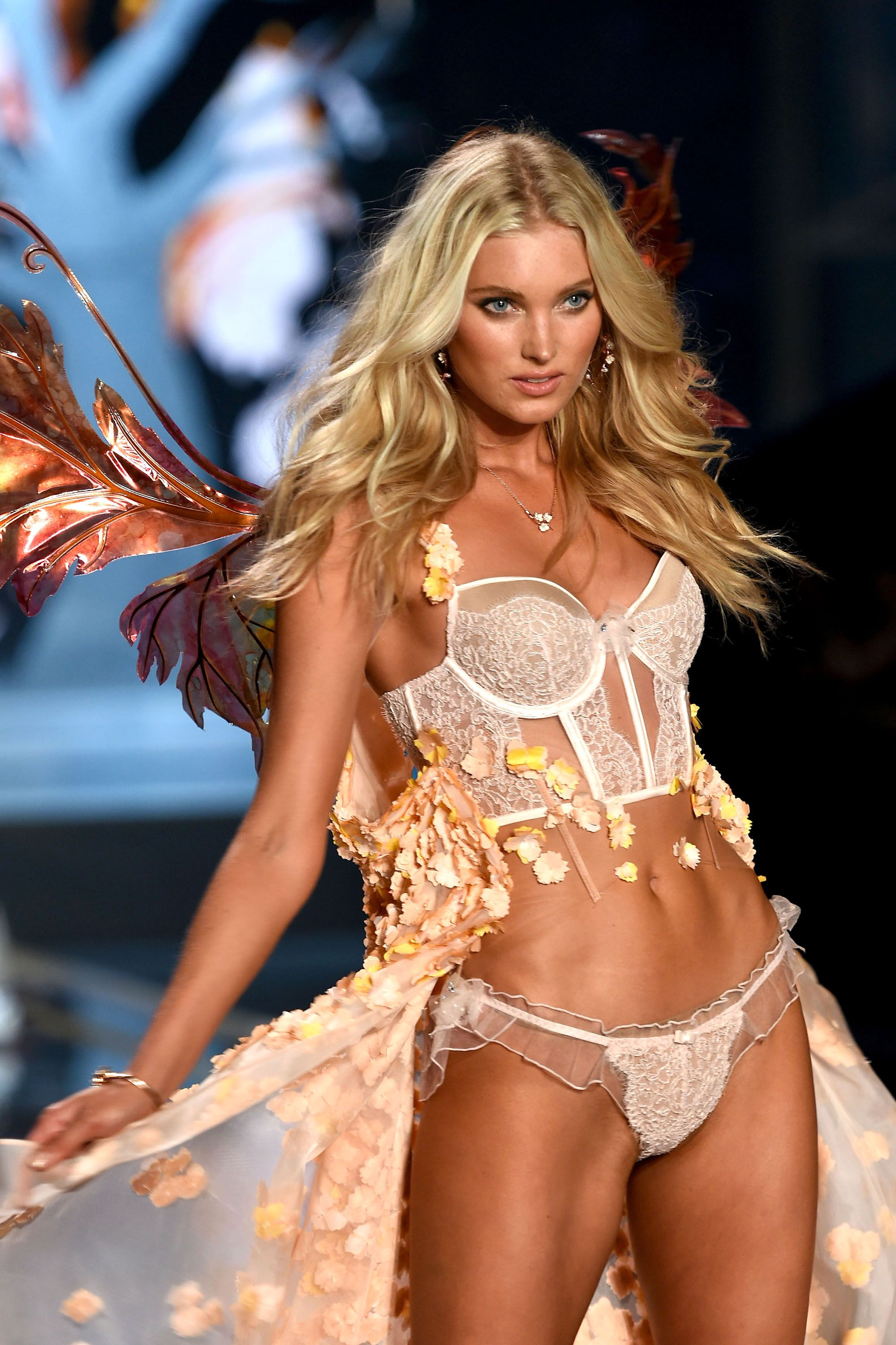 LONDON, ENGLAND - DECEMBER 02:  Model Elsa Hosk  walks the runway during the 2014 Victoria's Secret Fashion Show at Earl's Court Exhibition Centre on December 2, 2014 in London, England.  (Photo by Dimitrios Kambouris/Getty Images for Victoria's Secret)