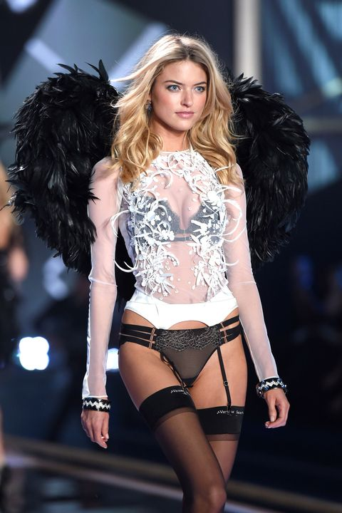 LONDON, ENGLAND - DECEMBER 02:  Martha Hunt walks the runway at the annual Victoria's Secret fashion show at Earls Court on December 2, 2014 in London, England.  (Photo by Karwai Tang/WireImage)