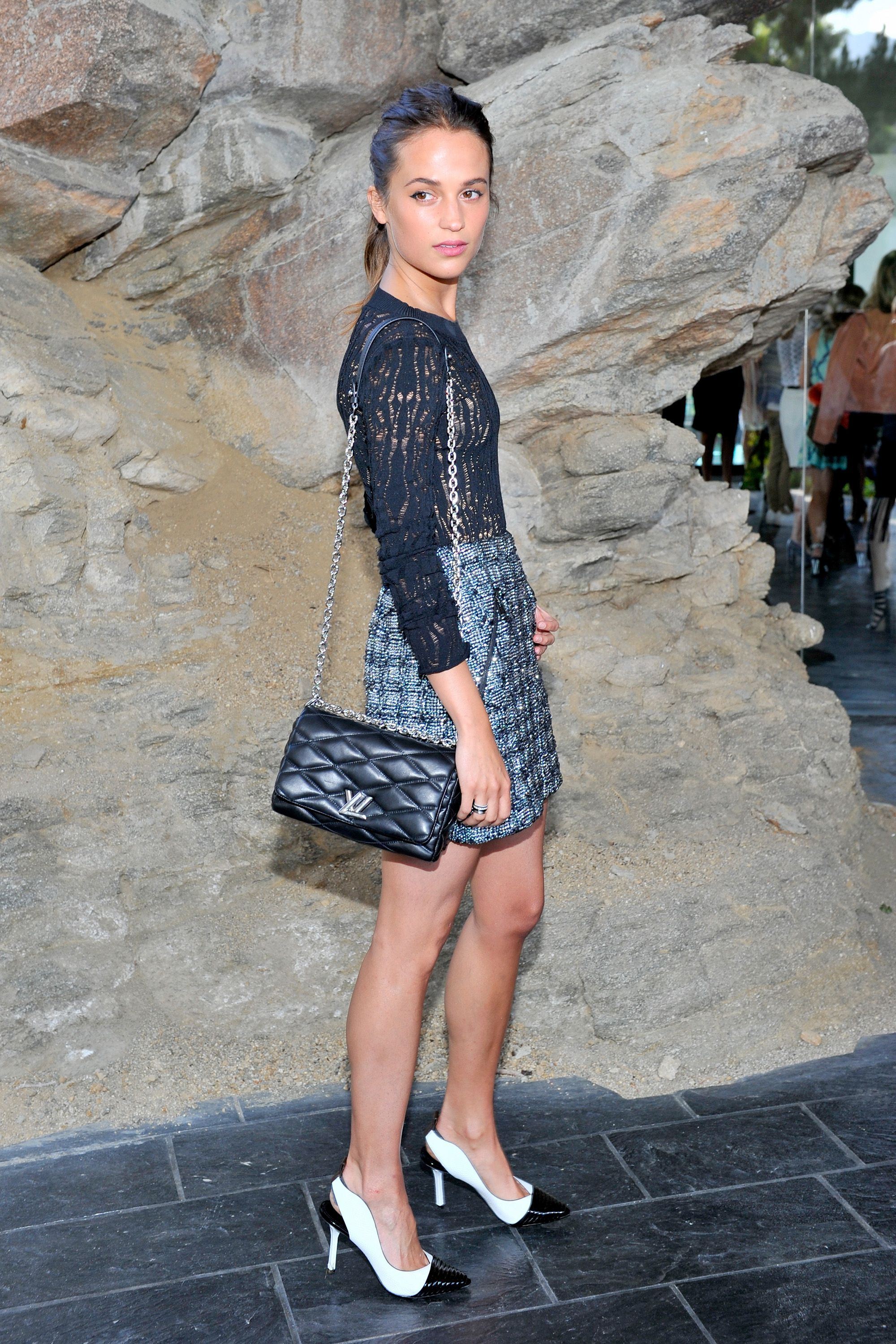 PALM SPRINGS, CA - MAY 06:  Actress Alicia Vikander attends the Louis Vuitton Cruise 2016 Resort Collection shown at a private residence on May 6, 2015 in Palm Springs, California.  (Photo by Donato Sardella/Getty Images for Louis Vuitton)