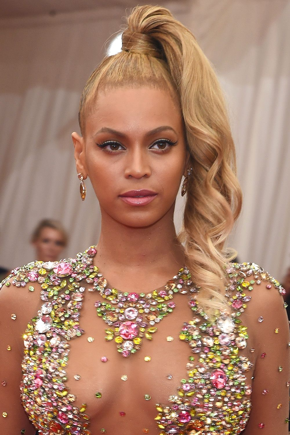 "NEW YORK, NY - MAY 04:  Beyonce attends the ""China: Through The Looking Glass"" Costume Institute Benefit Gala at the Metropolitan Museum of Art on May 4, 2015 in New York City.  (Photo by Jamie McCarthy/FilmMagic)"