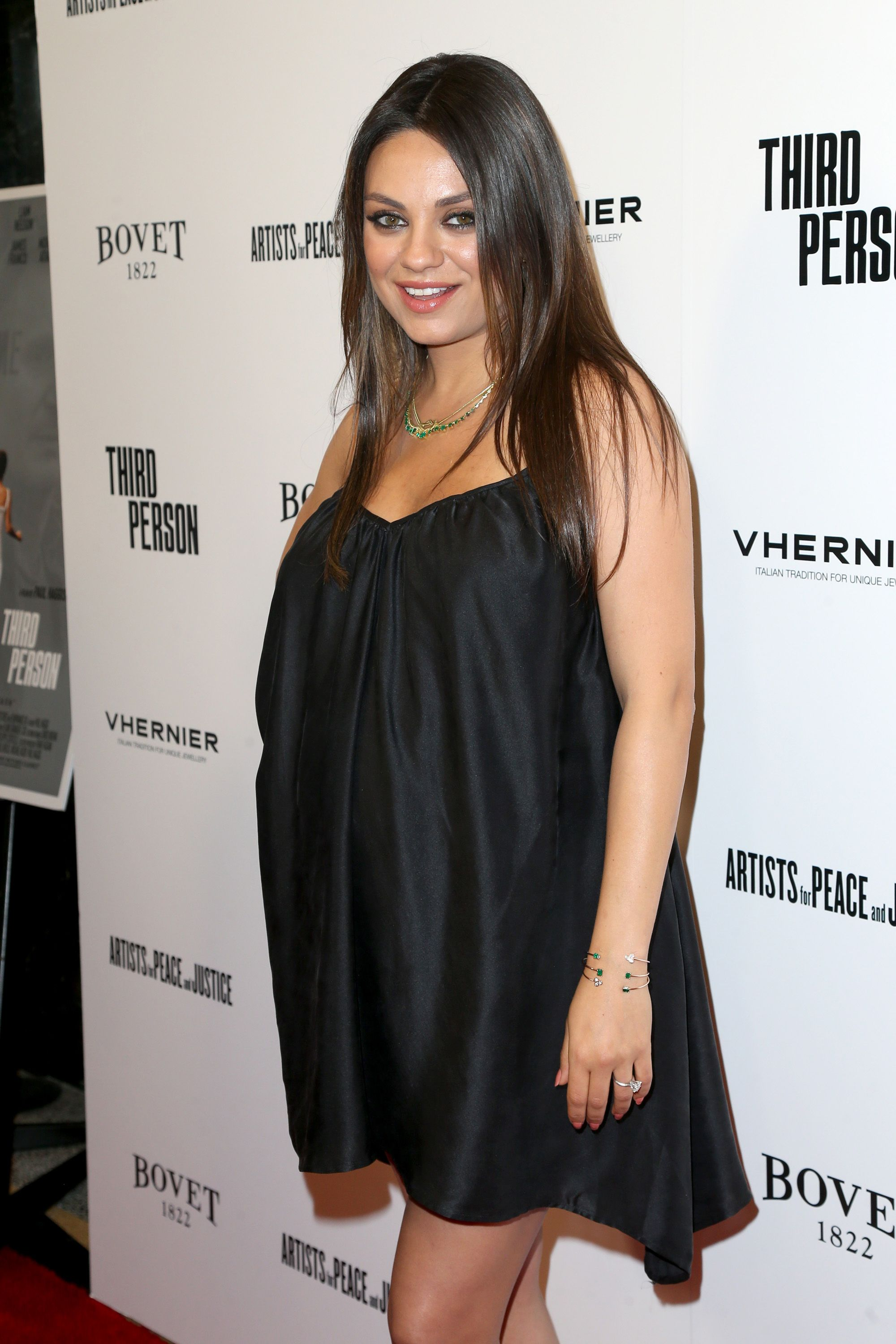 "HOLLYWOOD, CA - JUNE 09:  Actress Mila Kunis attends the premiere of Sony Picture Classics' ""Third Person"" at Linwood Dunn Theater at the Pickford Center for Motion Study on June 9, 2014 in Hollywood, California.  (Photo by Frederick M. Brown/Getty Images)"
