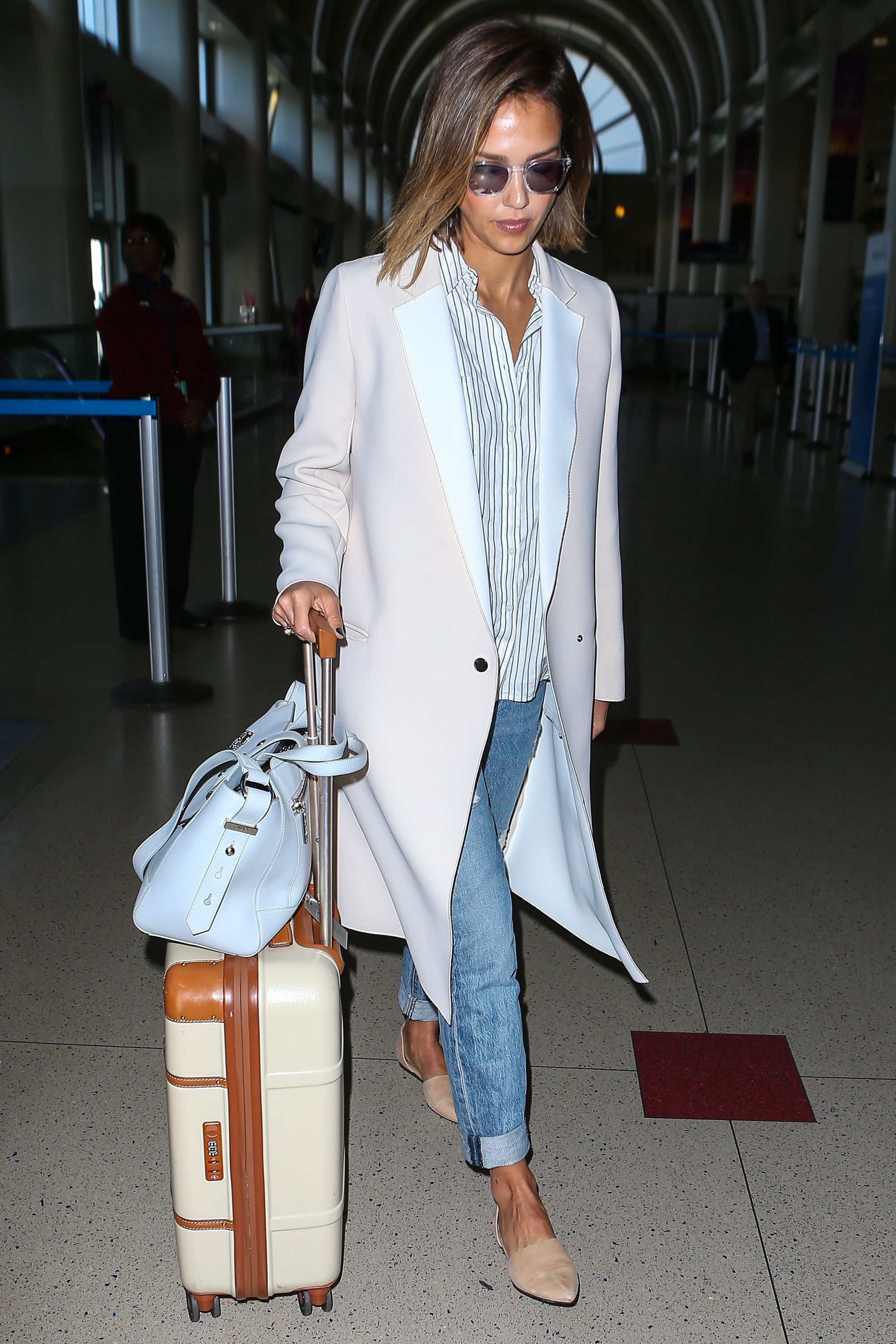 Jessica Alba at LAX.