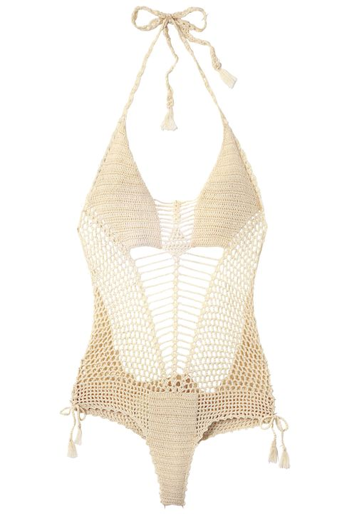 "<strong>Ulla Johnson</strong> swimsuit, $322, <a target=""_blank"" href=""http://warmny.com"">warmny.com</a>."