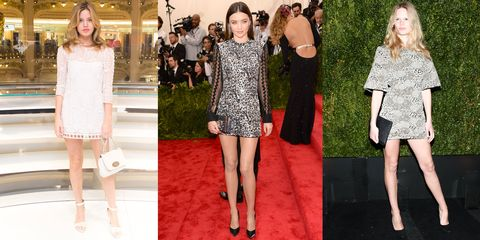 The mini is back and shorter than ever—and what better for these supermodels to show off their mile-long legs with.   <em>Georgia May Jagger, Miranda Kerr, Anna Ewers</em>