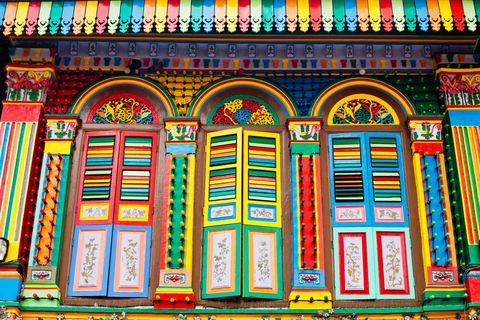 "There are plenty of bold buildings in Singapore, but this attraction in Little India might take the cake for most colorful. The house — one of the last standing Chinese villas in Little India — was built in 1900 by a Chinese businessman who had factories nearby. It was restored years later with the colorful palette and now houses many local businesses.  <em>Read more at <a target=""_blank"" href=""http://www.nhb.gov.sg/NHBPortal/faces/oracle/webcenter/portalapp/pagehierarchy/Page856.jspx;jsessionid=jGECHvQ74xXCZghs9JsAurSUIlyJy7mFMqebng_HjfYCJxeEH1g_!1841125575?detContId=NHBSVRAPP616200002338&_afrLoop=2095634954613681&_afrWindowMode=0&_afrWindowId=null#%40%3F_afrWindowId%3Dnull%26_afrLoop%3D2095634954613681%26detContId%3DNHBSVRAPP616200002338%26_afrWindowMode%3D0%26_adf.ctrl-state%3D42mnia81e_4"">National Heritage Board</a> and <a target=""_blank"" href=""http://www.singapore-guide.com/top10/top10-attractions-little-india.htm"">Singapore Guide</a> </em>»"
