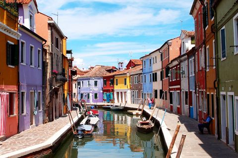 "Who knew a colorful paradise was lying in the Venetian lagoon? Accessible by water bus from Venice and Murano, the charming city is also known for its lacemaking, with visitors flocking to the lace museum and shops.   <em><a target=""_blank"" href=""http://www.isoladiburano.it/"">Read more at Isola di Burano »</a></em>"