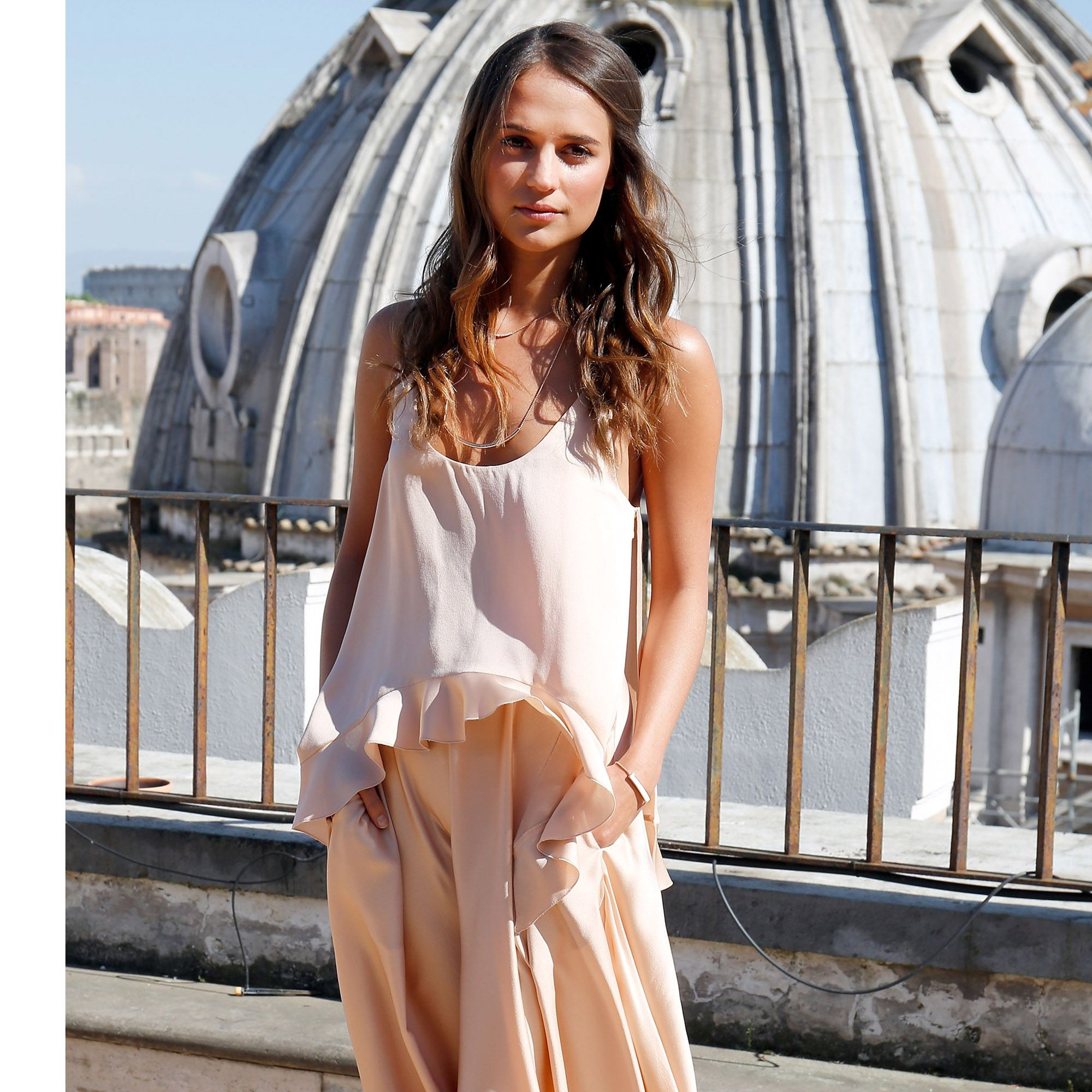 ROME, ITALY - MAY 09:  Alicia Vikander attends 'The Man From U.N.C.L.E.'  Photocall at Terrazza Civita on May 9, 2015 in Rome, Italy.  (Photo by Elisabetta A. Villa/Getty Images)