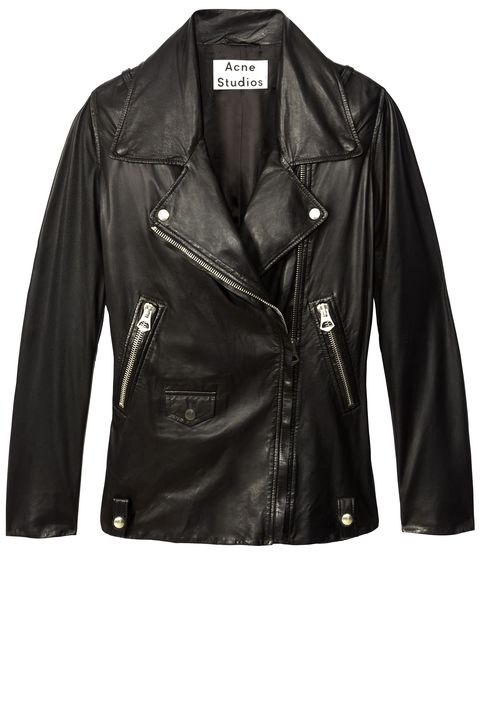 "<strong>Always Wearing: </strong>A loved-to-death Acne leather jacket.   <strong>Acne Studios </strong>jacket, $2,000, similar styles available at <a target=""_blank"" href=""http://shop.harpersbazaar.com/designers/acne-studios/"">shopBAZAAR.com</a><img src=""http://assets.hdmtools.com/images/HBZ/Shop.svg"" class=""icon shop"">."
