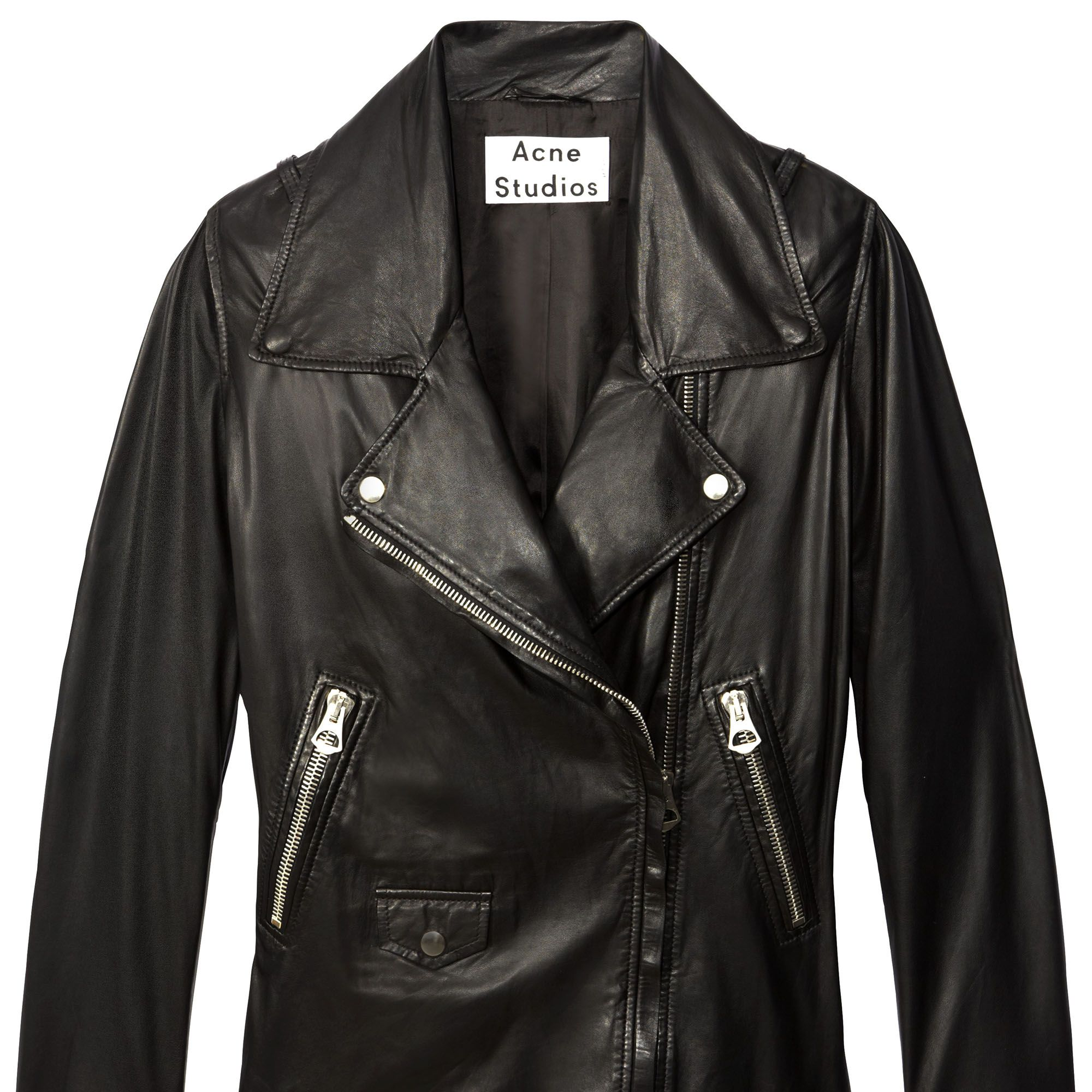 <strong>Always Wearing: </strong>A loved-to-death Acne leather jacket. 