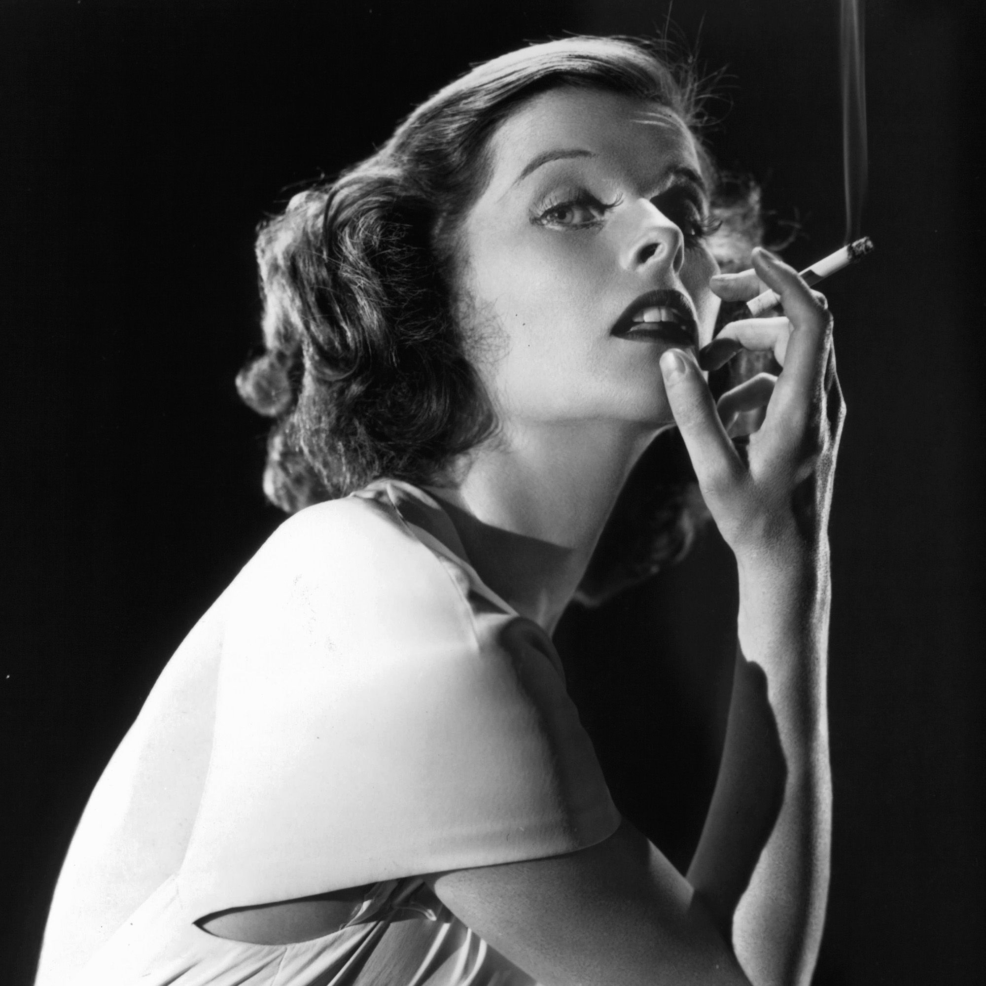 Katharine Hepburn in publicity portrait, Circa 1932. (Photo by RKO Radio Pictures/Getty Images)