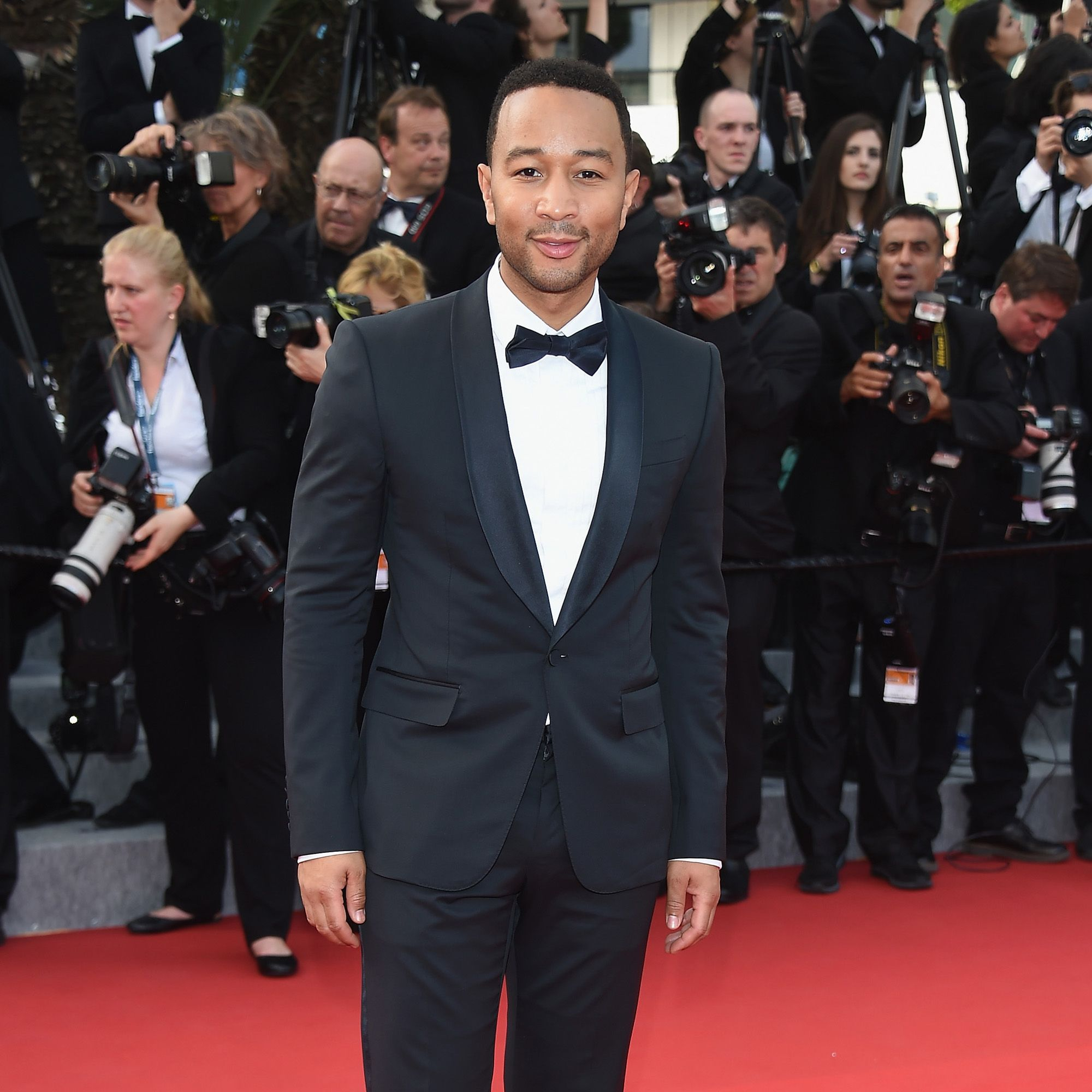 """CANNES, FRANCE - MAY 13:  Singer John Legend attends the opening ceremony and premiere of """"La Tete Haute (""""Standing Tall"""") during the 68th annual Cannes Film Festival on May 13, 2015 in Cannes, France.  (Photo by Venturelli/WireImage)"""