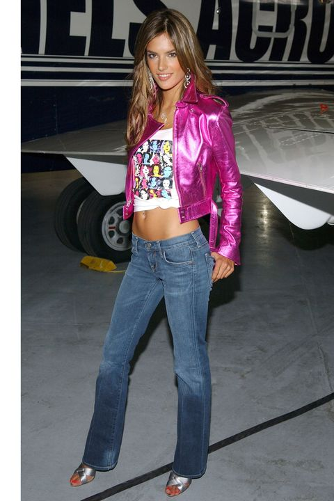 "Alessandra Ambrosio during Victoria's Secret Supermodels Kick Off Cross-Country ""Angels Across America"" Tour at Teterboro Airport in Hasbrouck Heights, New Jersey, United States. (Photo by J. Countess/WireImage)"