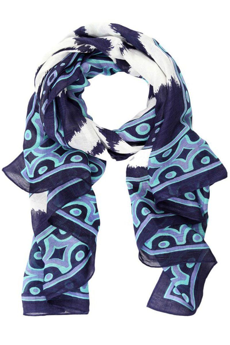 """<strong>Theordora & Callum</strong> scarf, $175, <a target=""""_blank"""" href=""""http://shop.harpersbazaar.com/designers/theodora-callum/lake-mburo-scarf/""""><em>shopBAZAAR.com</em></a>"""