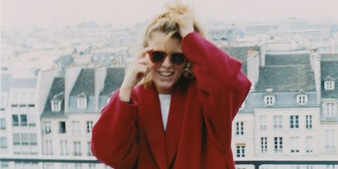 Eyewear, Glasses, Vision care, Sleeve, Window, Sunglasses, Outerwear, Street fashion, Jacket, Laugh,