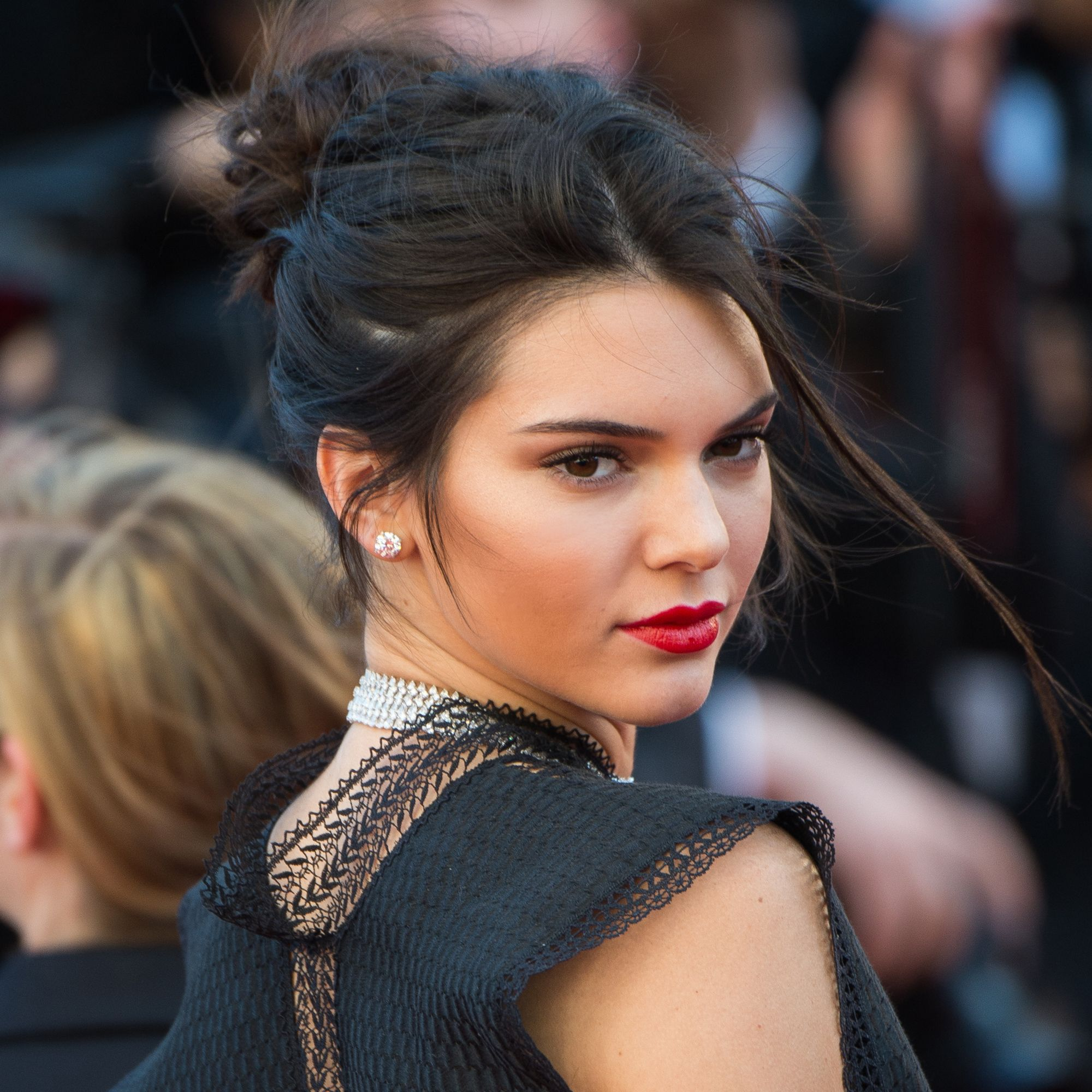 """CANNES, FRANCE - MAY 20:  Kendall Jenner attends the """"Youth""""  Premiere during the 68th annual Cannes Film Festival on May 20, 2015 in Cannes, France.  (Photo by Samir Hussein/WireImage)"""
