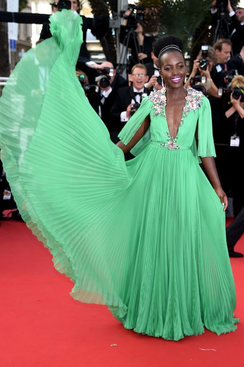 "CANNES, FRANCE - MAY 13:  Actress Lupita Nyong'o attends the opening ceremony and premiere of ""La Tete Haute (""Standing Tall"") during the 68th annual Cannes Film Festival on May 13, 2015 in Cannes, France.  (Photo by Venturelli/WireImage)"