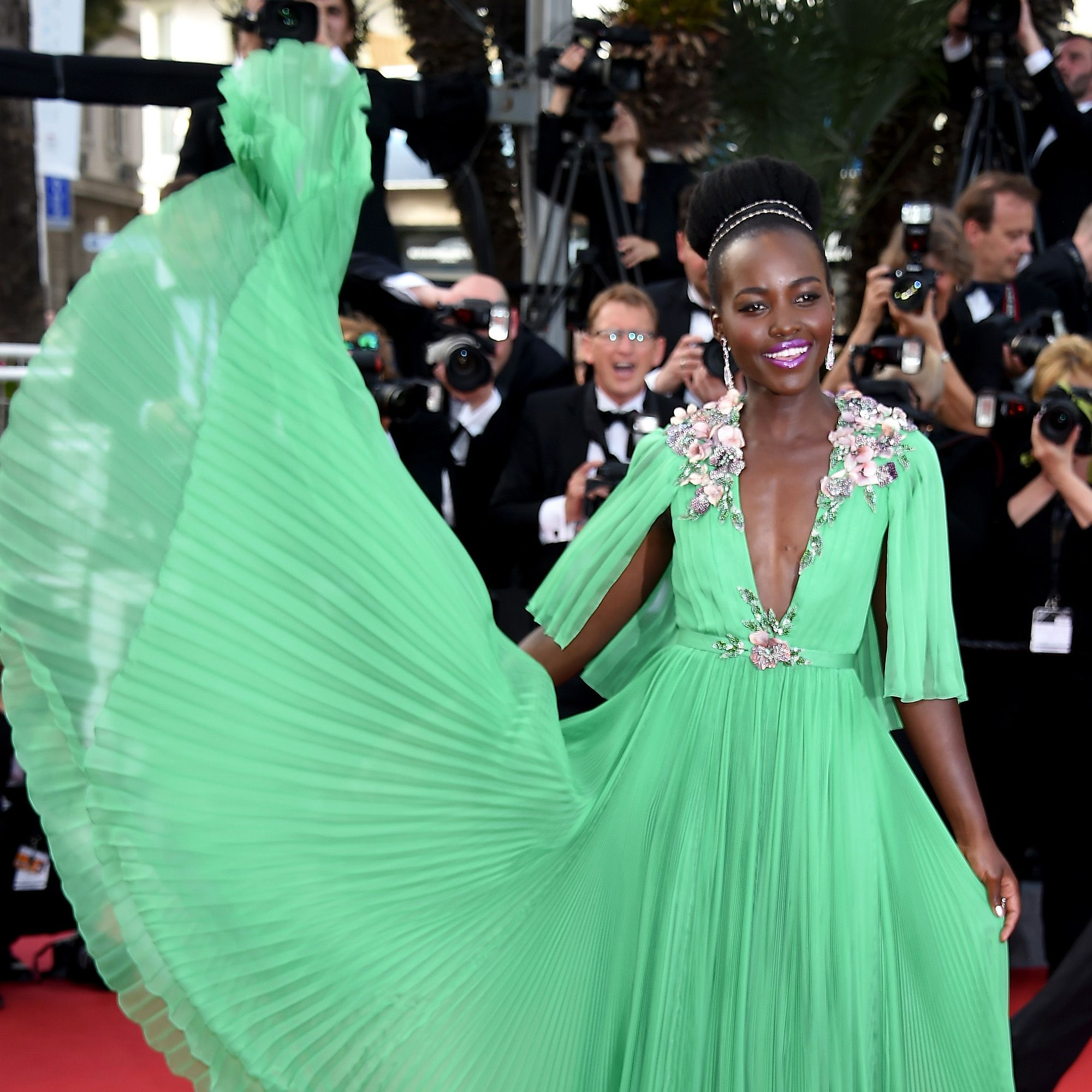 """CANNES, FRANCE - MAY 13:  Actress Lupita Nyong'o attends the opening ceremony and premiere of """"La Tete Haute (""""Standing Tall"""") during the 68th annual Cannes Film Festival on May 13, 2015 in Cannes, France.  (Photo by Venturelli/WireImage)"""