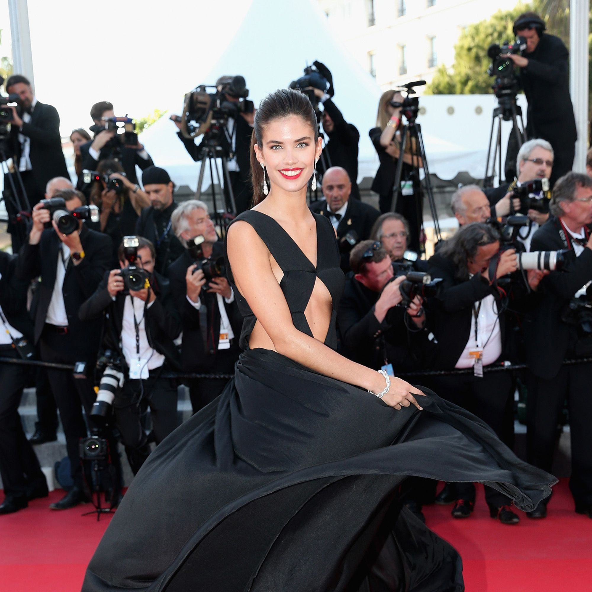 """CANNES, FRANCE - MAY 18: Model Sara Sampaio attends the Premiere of """"Inside Out"""" during the 68th annual Cannes Film Festival on May 18, 2015 in Cannes, France.  (Photo by Gisela Schober/Getty Images)"""