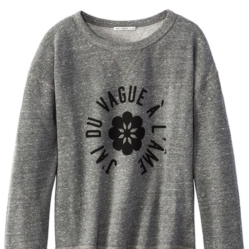"""<strong>Alexa Chung for AG </strong>sweatshirt, $188, <a target=""""_blank"""" href=""""http://shop.harpersbazaar.com/designers/alexa-chung-for-ag/the-new-wave-sweatshirt/"""">shopBAZAAR.com</a>."""