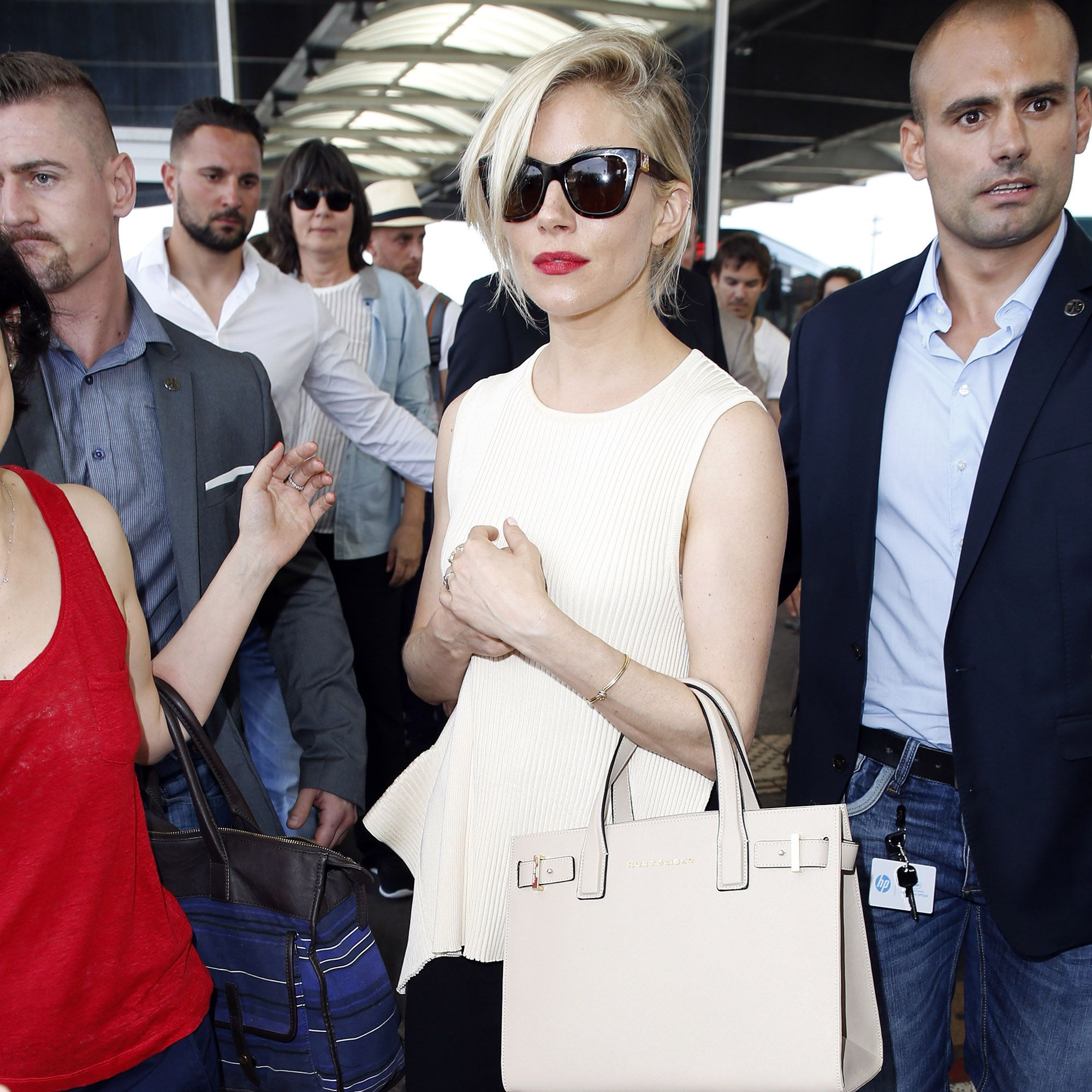 NICE, FRANCE - MAY 12: Sienna Miller sighted on May 12, 2015 in Nice, France. (Photo by Alex Huckle/Getty Images)