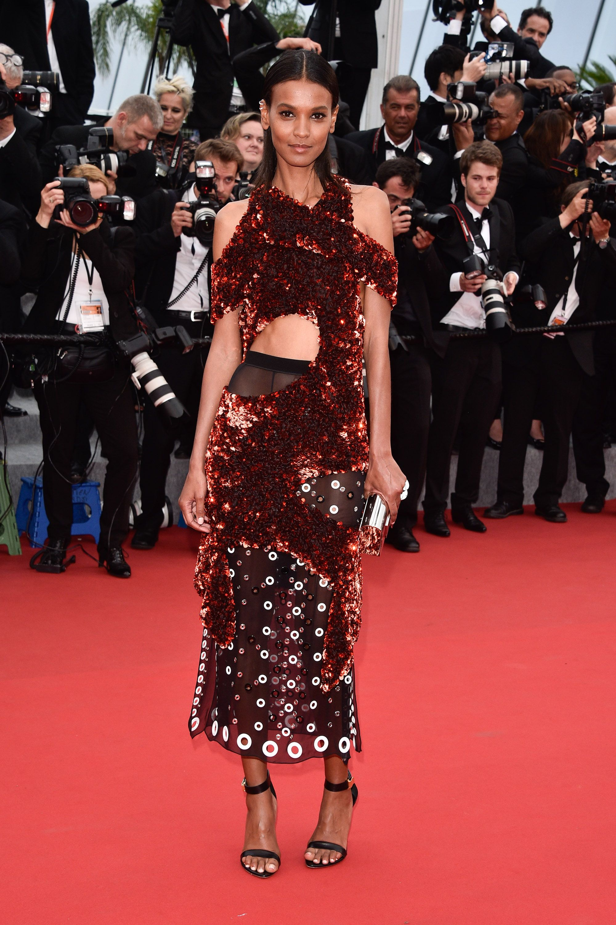 "CANNES, FRANCE - MAY 14:  Liya Kebede attends the ""Mad Max : Fury Road""  Premiere during the 68th annual Cannes Film Festival on May 14, 2015 in Cannes, France.  (Photo by George Pimentel/WireImage)"