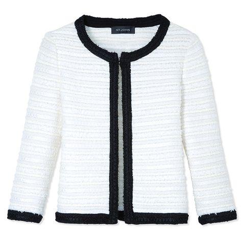 "<p><em>St. John jacket, $1,495, <a target=""_blank"" href=""http://shop.harpersbazaar.com/designers/st-john/tweed-jacket-21/"">shopBAZAAR.com</a></em></p>"