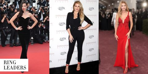 """<strong>The Celebs:</strong> Adriana Lima, Khloé Kardashian, Gigi Hadid  <strong>The Workout:</strong> Boxing  <strong>The Body Benefits:</strong> Shadow boxing is the biggest new boutique fitness craze; the training exercises deliver ultratoned arms, improved core strength and stability and intense fat burning.  <strong>The Hot Spots:</strong> <a target=""""_blank"""" href=""""http://shadowboxnyc.com/"""">Shadowbox</a>, <a target=""""_blank"""" href=""""https://overthrownyc.com/"""">Overthrow</a>, <a target=""""_blank"""" href=""""http://gothamgymnyc.com/"""">Gotham Gym</a>"""