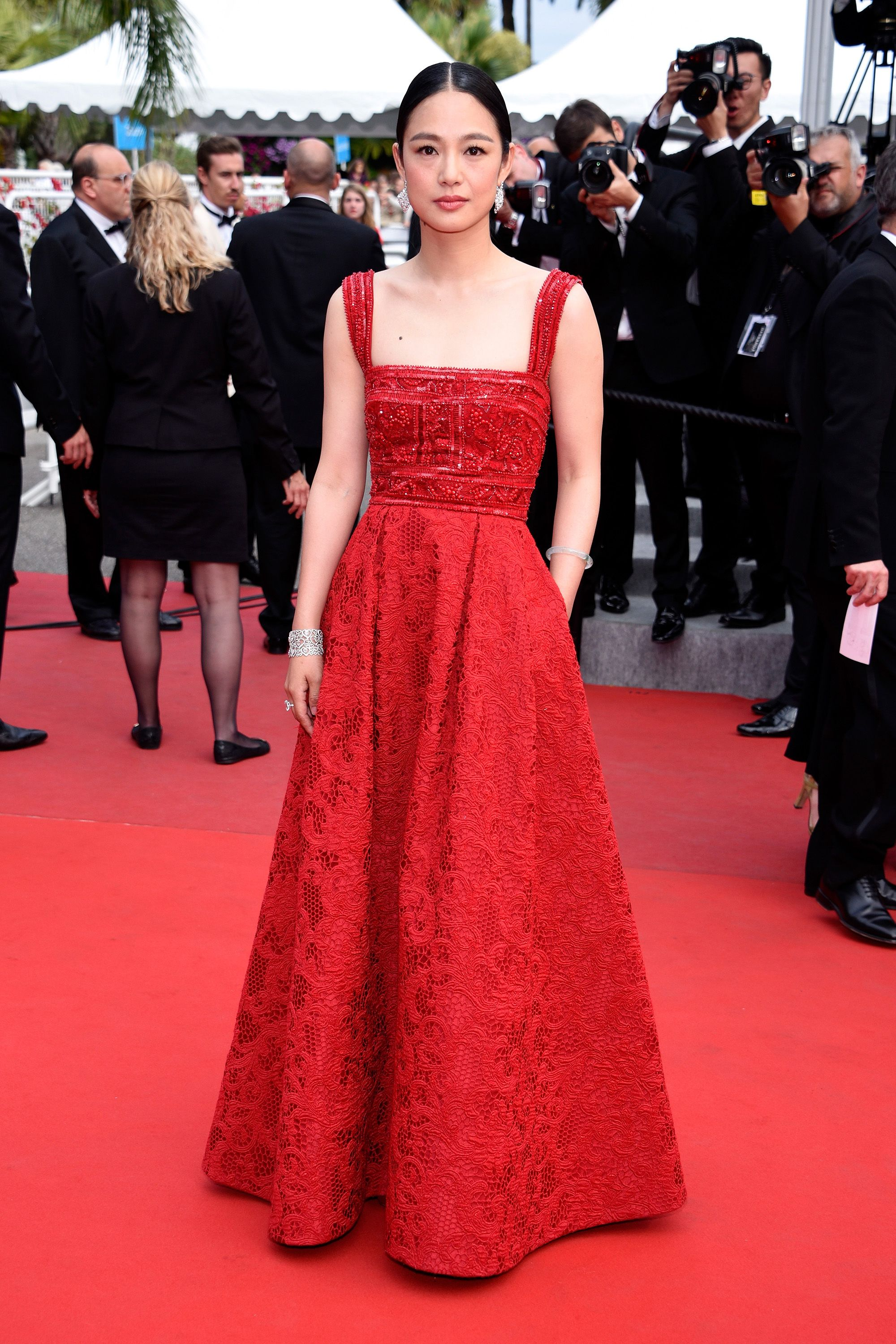 "CANNES, FRANCE - MAY 24:  Actress Zhou Yun attends the closing ceremony and Premiere of ""La Glace Et Le Ciel"" (""Ice And The Sky"") during the 68th annual Cannes Film Festival on May 24, 2015 in Cannes, France.  (Photo by Clemens Bilan/Getty Images)"