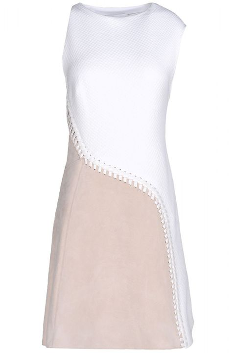 "<strong>3.1 Phillip Lim </strong>dress, $510, <a target=""_blank"" href=""http://shop.harpersbazaar.com/designers/3-1-phillip-lim/cotton-suede-lace-up-dress/"">shopBAZAAR.com</a>"