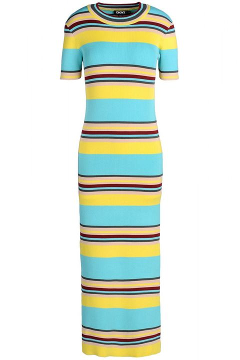 "From bold stripes to standout colorblocking, add interest to your weekday look with a strong, geometric pattern.   <strong>DKNY </strong>dress, $206, <a target=""_blank"" href=""http://shop.harpersbazaar.com/designers/dkny/striped-ribbed-midi-dress/"">shopBAZAAR.com</a>"
