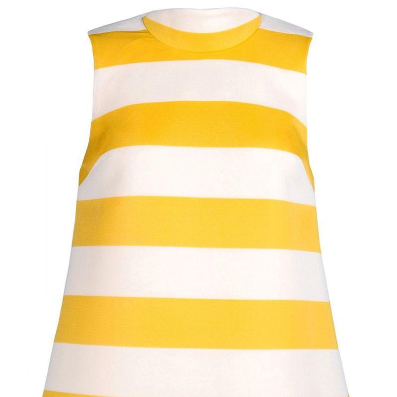 """<strong>Jacquemus</strong> dress, $323, <a target=""""_blank"""" href=""""http://shop.harpersbazaar.com/designers/jacquemus/striped-a-line-dress/"""">shopBAZAAR.com</a>"""