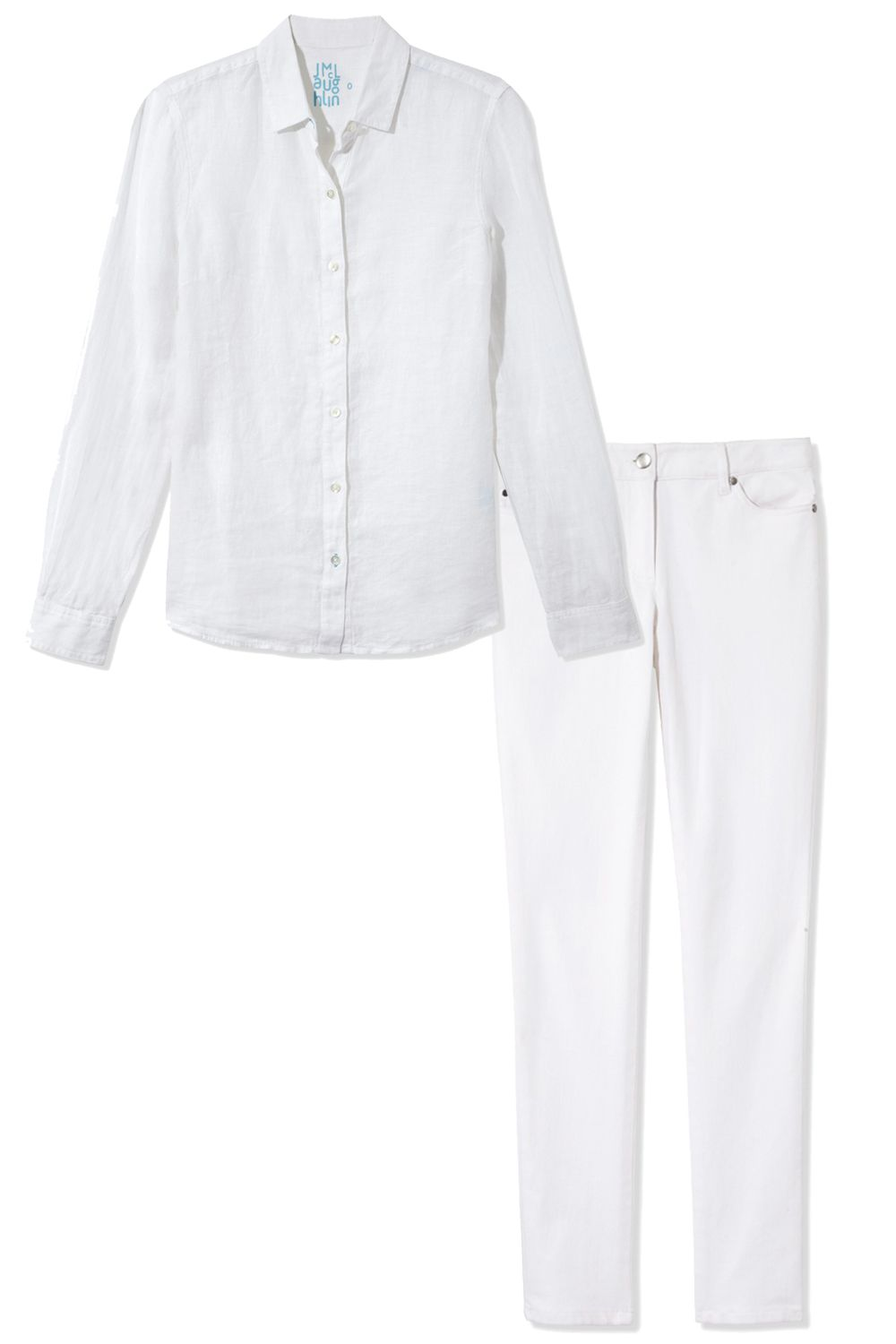 "<p><em>J.McLaughlin top, $168, <a target=""_blank"" href=""http://shop.harpersbazaar.com/designers/j-mclaughlin/savannah-linen-shirt/"">shopBAZAAR.com</a>; J.McLaughlin jeans, $155, <a target=""_blank"" href=""http://shop.harpersbazaar.com/designers/j-mclaughlin/lexi-knit-jean/"">shopBAZAAR.com</a></em></p>"