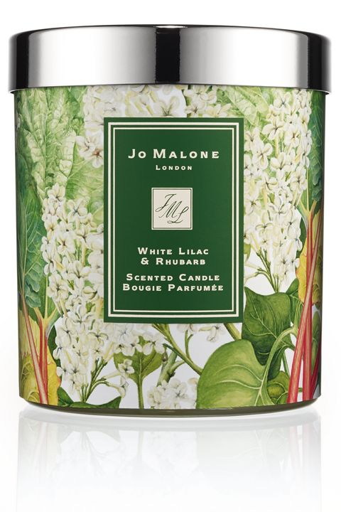 "<strong>Jo Malone</strong> White Lilac &amp; Rhubarb Charity Candle, $70, <a target=""_blank"" href=""http://www.jomalone.com/product/3560/36189/For-the-Home/Home-Candles/White-Lilac-Rhubarb-Charity-Candle"">jomalone.com</a>."