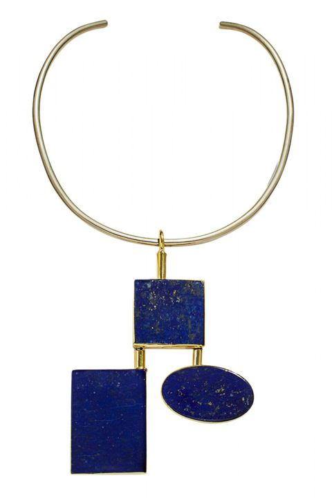 """Sturdy options anchored with geometric pendants are instant outfit-makers.   <strong>Anndra Neen </strong>necklace, $560, <a target=""""_blank"""" href=""""http://shop.harpersbazaar.com/designers/anndra-neen/cleo-choker/"""">shopBAZAAR.com</a>"""