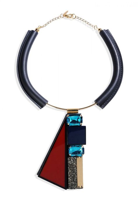"<strong>Marni </strong>necklace, $495, <a target=""_blank"" href=""http://shop.harpersbazaar.com/designers/marni/embellished-panel-necklace/"">shopBAZAAR.com</a>"