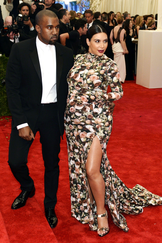 Kim Kardashian Black and White Formal Dresses
