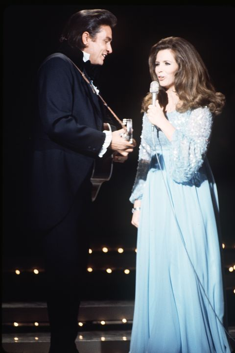 "UNITED STATES - APRIL 10:  JOHNNY CASH - ""The Johnny Cash Show"" - 4/10/70, Johnny Cash and June Carter Cash at the Grand Ole Opry.,  (Photo by ABC Photo Archives/ABC via Getty Images)"