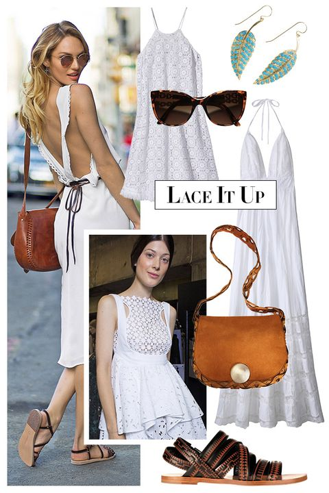 "Your summer wardrobe starts with the little white dress. The sweetest takes involve lace details and look ultra-new when worn with caramel-colored sandals and bags.   <strong>Miguelina</strong> dress, $320, <a target=""_blank"" href=""http://shop.harpersbazaar.com/clothing/dresses/"">shopBAZAAR.com</a>; <strong>Bulgari </strong>sunglasses, $450, <a target=""_blank"" href=""http://www.bulgari.com/en-us/products.html?root_level=314&amp;product_detail_one=401"">bulgari.com</a>; <strong>Jennifer Meyer</strong> earrings, $9,000, Neapolitan Collection, Winnetka, IL; 847-441-7784; <strong>Candela</strong> dress, $420, <a target=""_blank"" href=""http://shop.harpersbazaar.com/designers/candela/"">shopBAZAAR.com</a>; <strong>Emilio Pucci</strong> bag, $2,390, similar styles available at <a target=""_blank"" href=""http://shop.harpersbazaar.com/designers/emilio-pucci/"">shopBAZAAR.com</a>; <strong>Daniele Michetti</strong> sandal, $795, similar styles available at <a target=""_blank"" href=""http://shop.harpersbazaar.com/designers/daniele-michetti/"">shopBAZAAR.com</a><img src=""http://assets.hdmtools.com/images/HBZ/Shop.svg"" class=""icon shop"">."