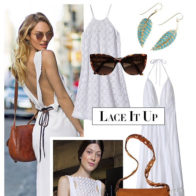 """Your summer wardrobe starts with the little white dress. The sweetest takes involve lace details and look ultra-new when worn with caramel-colored sandals and bags. <strong>Miguelina</strong> dress, $320, <a target=""""_blank"""" href=""""http://shop.harpersbazaar.com/clothing/dresses/"""">shopBAZAAR.com</a>&#x3B; <strong>Bulgari </strong>sunglasses, $450, <a target=""""_blank"""" href=""""http://www.bulgari.com/en-us/products.html?root_level=314&amp&#x3B;product_detail_one=401"""">bulgari.com</a>&#x3B; <strong>Jennifer Meyer</strong> earrings, $9,000, Neapolitan Collection, Winnetka, IL&#x3B; 847-441-7784&#x3B; <strong>Candela</strong> dress, $420, <a target=""""_blank"""" href=""""http://shop.harpersbazaar.com/designers/candela/"""">shopBAZAAR.com</a>&#x3B; <strong>Emilio Pucci</strong> bag, $2,390, similar styles available at <a target=""""_blank"""" href=""""http://shop.harpersbazaar.com/designers/emilio-pucci/"""">shopBAZAAR.com</a>&#x3B; <strong>Daniele Michetti</strong> sandal, $795, similar styles available at <a target=""""_blank"""" href=""""http://shop.harpersbazaar.com/designers/daniele-michetti/"""">shopBAZAAR.com</a><img src=""""http://assets.hdmtools.com/images/HBZ/Shop.svg"""" class=""""icon shop"""">."""