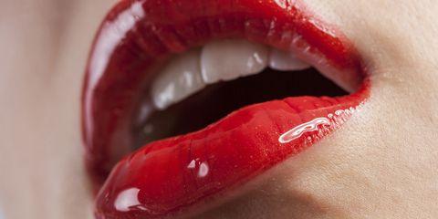 Lip, Skin, Red, Organ, Close-up, Carmine, Photography, Eyelash, Tooth, Material property,