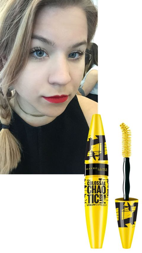 """While I wouldn't recommend for an everyday look, this mascara is a lot of fun—I'd definitely wear it for an evening out. I'm obsessed with the volume and the clumps look cool, not messy."" —Julie Kosin, Associate Digital Editor  <strong>Maybelline</strong> Colossal Chaotic Lash Volum' Express Mascara, $6, <a target=""_blank"" href=""http://www.target.com/p/maybelline-31floz-colossal-chaotic-waterproof-mascara-blackest-black/-/A-16919595?ref=tgt_adv_XSG10001&amp;AFID=google_pla_df&amp;LNM=16919595&amp;CPNG=Health+Beauty&amp;kpid=16919595&amp;LID=17pgs&amp;ci_src=17588969&amp;ci_sku=16919595&amp;kpid=16919595&amp;gclid=CMSM9dLSisYCFQwXHwodG7EAog"">target.com</a>."