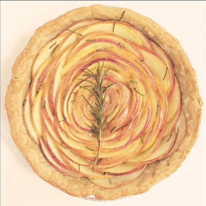 "Conrad turned a simple apple rosemary tart into art you can eat. <a target=""_blank"" href=""https://instagram.com/laurenconrad/"">@laurenconrad</a>"