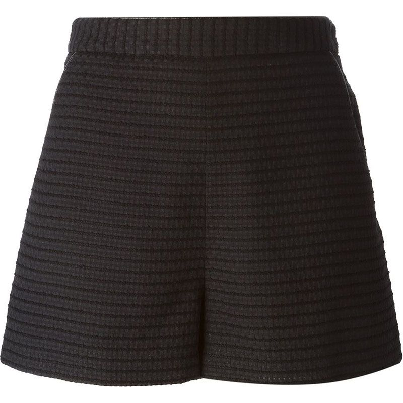 "<strong>Tamara Mellon</strong> shorts, $428, <a target=""_blank"" href=""http://www.farfetch.com/shopping/women/tamara-mellon-a-line-textured-shorts-item-10954005.aspx?storeid=9532&amp&#x3B;ffref=lp_2_2_"">farfetch.com</a>."